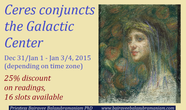 Ceres conjuncts the Galactic Center