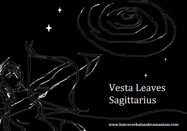 vesta leaves sagittarius logo