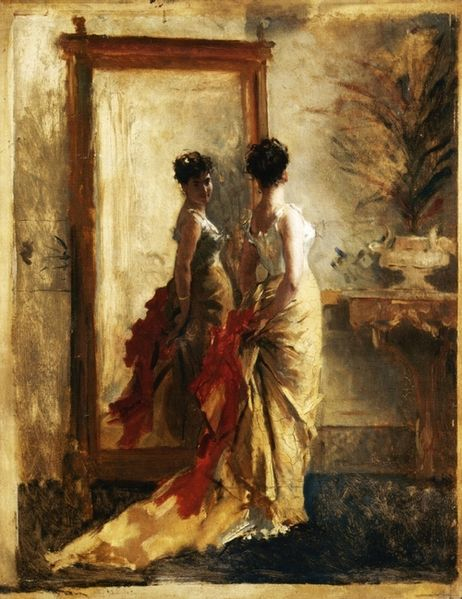 462px-Woman_in_front_of_a_Mirror,_Mose_Bianchi