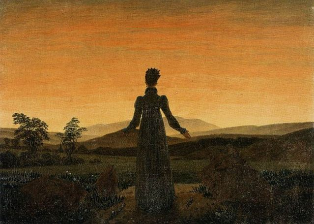 800px-Caspar_David_Friedrich_-_Woman_before_the_Rising_Sun_(Woman_before_the_Setting_Sun)_-_WGA08253