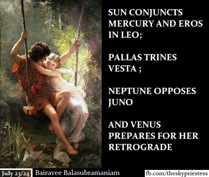 Sun conjunct Mercury and Eros in Leo