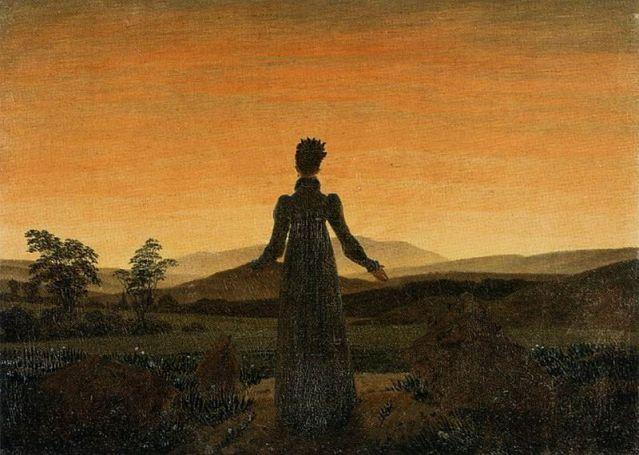 800px-Caspar_David_Friedrich_-_Woman_before_the_Rising_Sun_(Woman_before_the_Setting_Sun)_-_WGA08253
