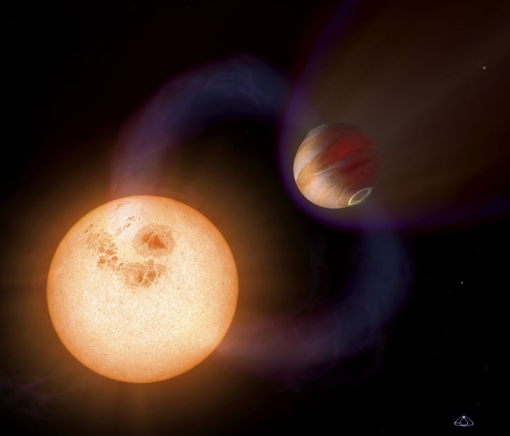 Artist's impression of an ultra-short-period planet