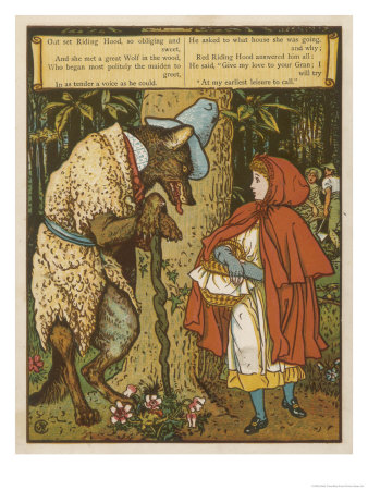 Walter-crane-little-red-riding-hood-meets-the-wolf-in-the-woods